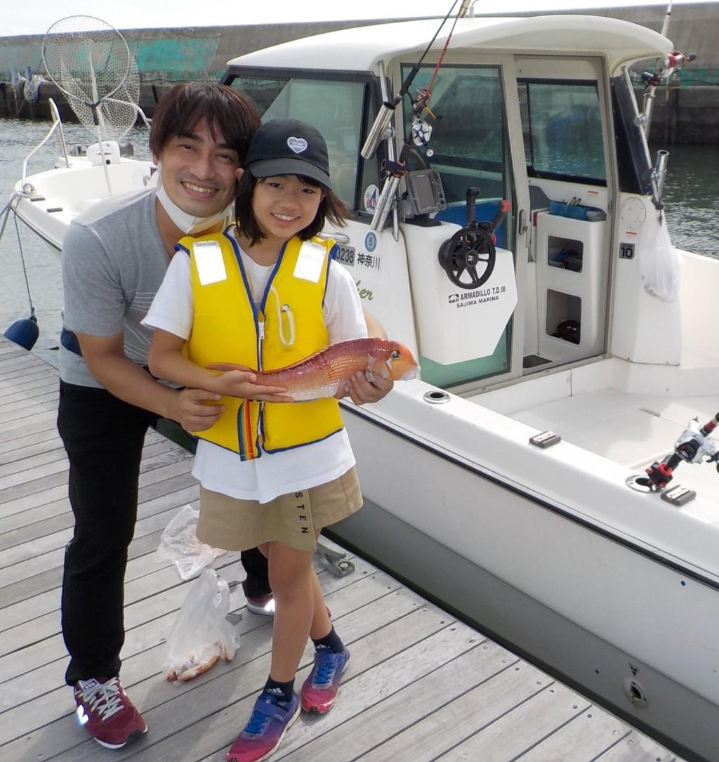 釣人 : 亀田 真央 ちゃん